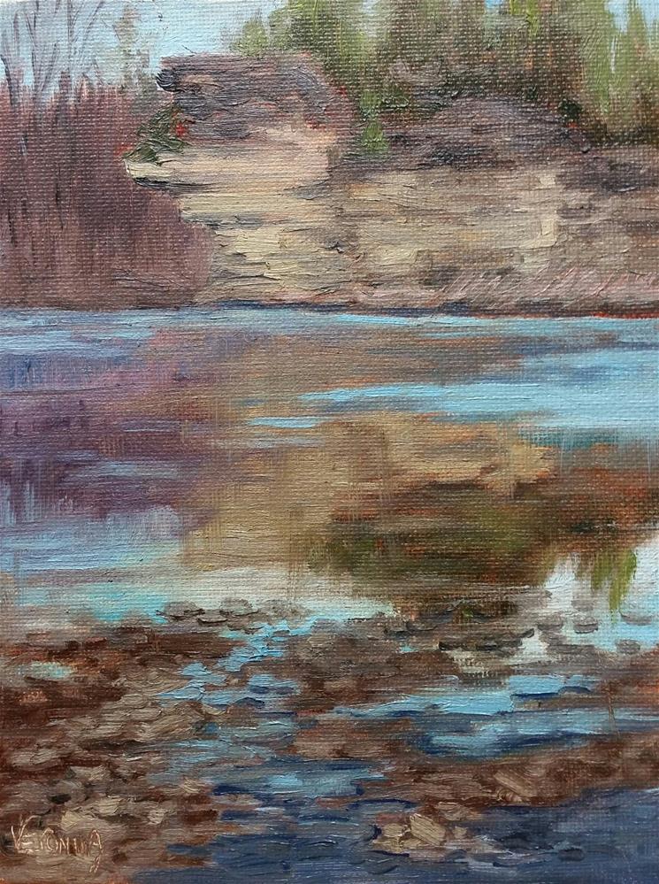 """Millrock River Access"" original fine art by Veronica Brown"