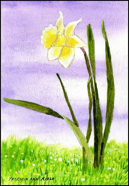 """Daffodil Promise of Spring"" original fine art by Patricia Ann Rizzo"