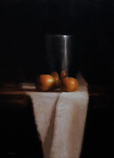 """Cup with Clementines"" original fine art by Neil Carroll"