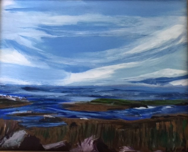 """Winter Marsh"" original fine art by Sheila Clark Lundy"