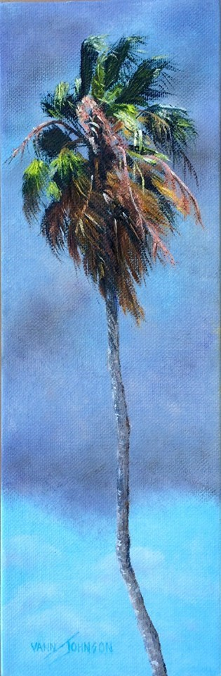 """Stormy palm 5"" original fine art by Wendi Vann Johnson"