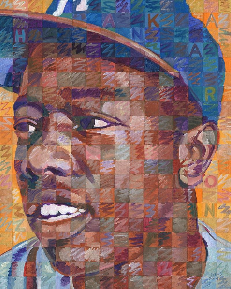 """Hank Aaron"" original fine art by Randal Huiskens"