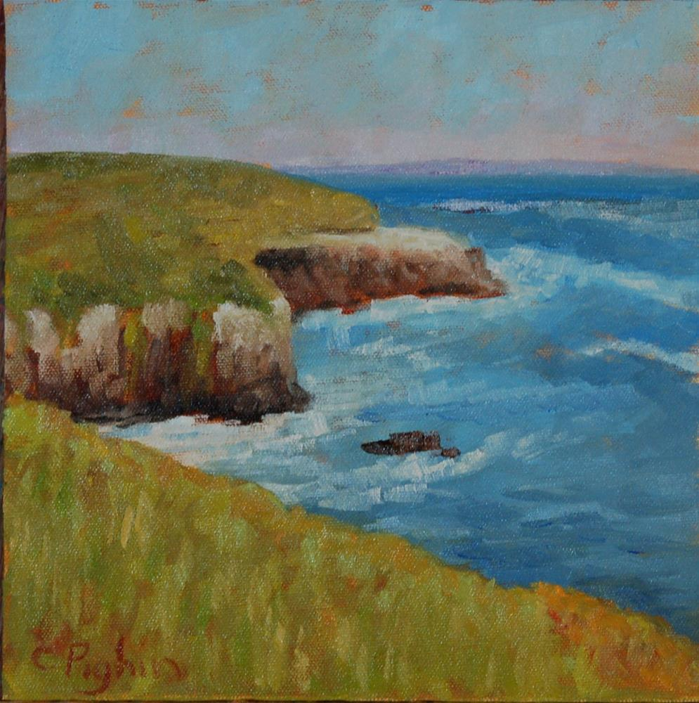 """Pacific Cliffs"" original fine art by Carol Pighin"