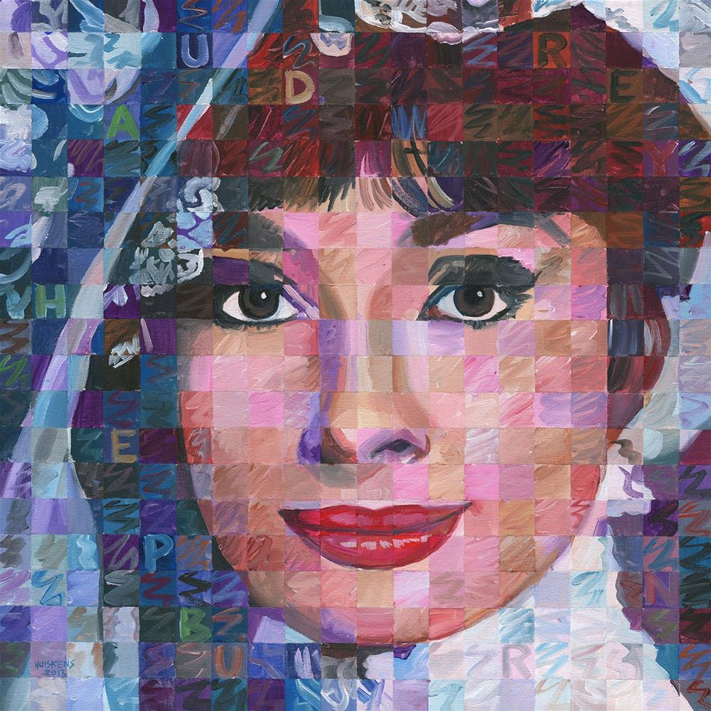 """Audrey Hepburn #5"" original fine art by Randal Huiskens"