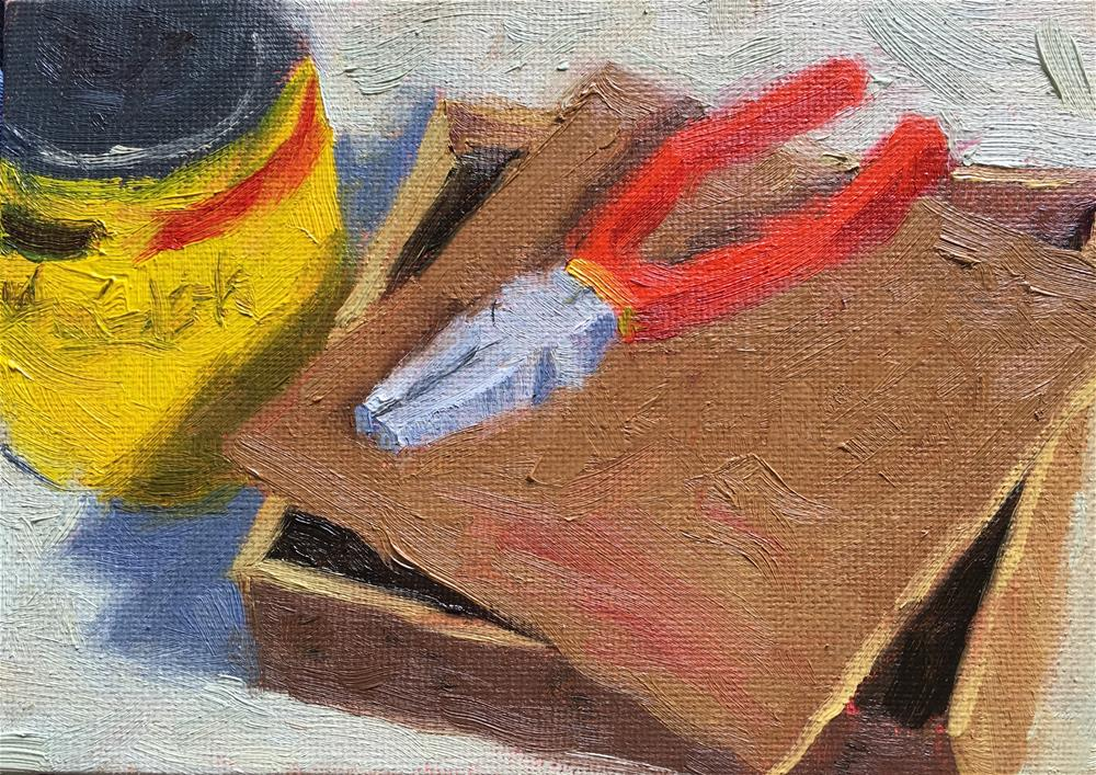 """Workshop Tools"" original fine art by Tracy Wise"