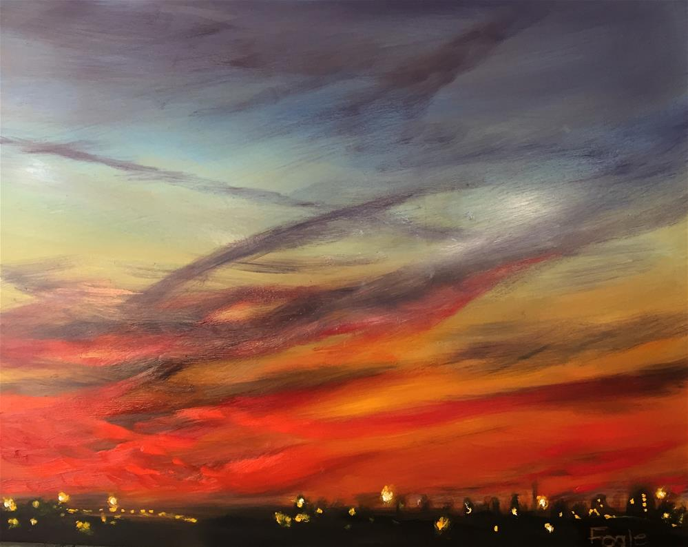 """15-11 Sunrise Over Carillon"" original fine art by Rachel Fogle"