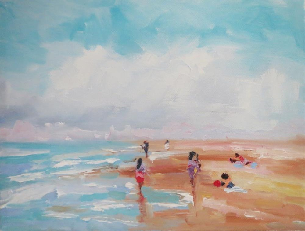 """Beach time"" original fine art by Astrid Buchhammer"
