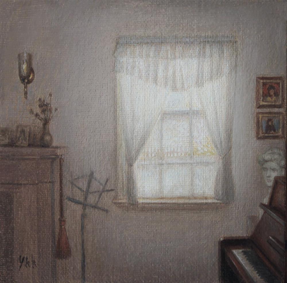 """""""Interior"""" original fine art by Yuehua He"""