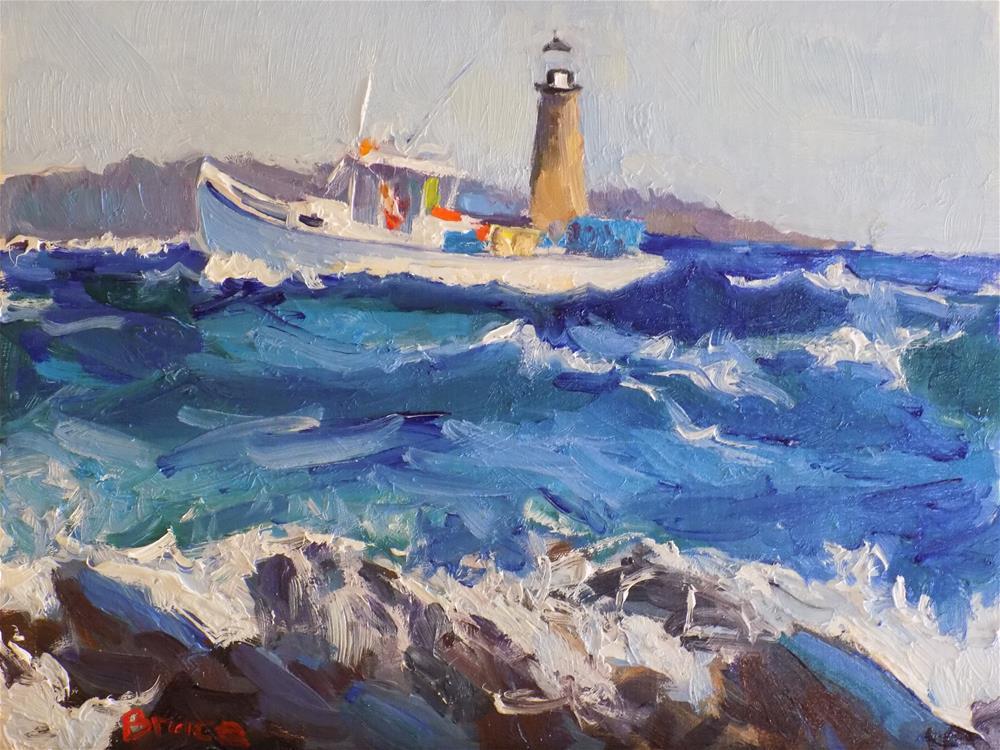"""High Seas Ram Island"" original fine art by Rita Brace"