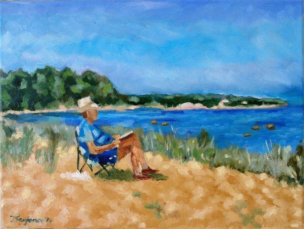 """on the beach"" original fine art by Yuriy Semyonov"