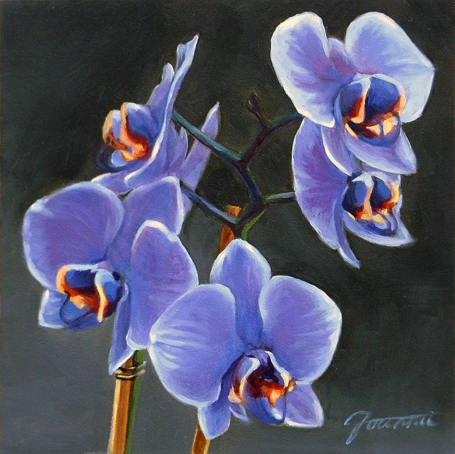 """Purple Orchid"" original fine art by Joanna Bingham"