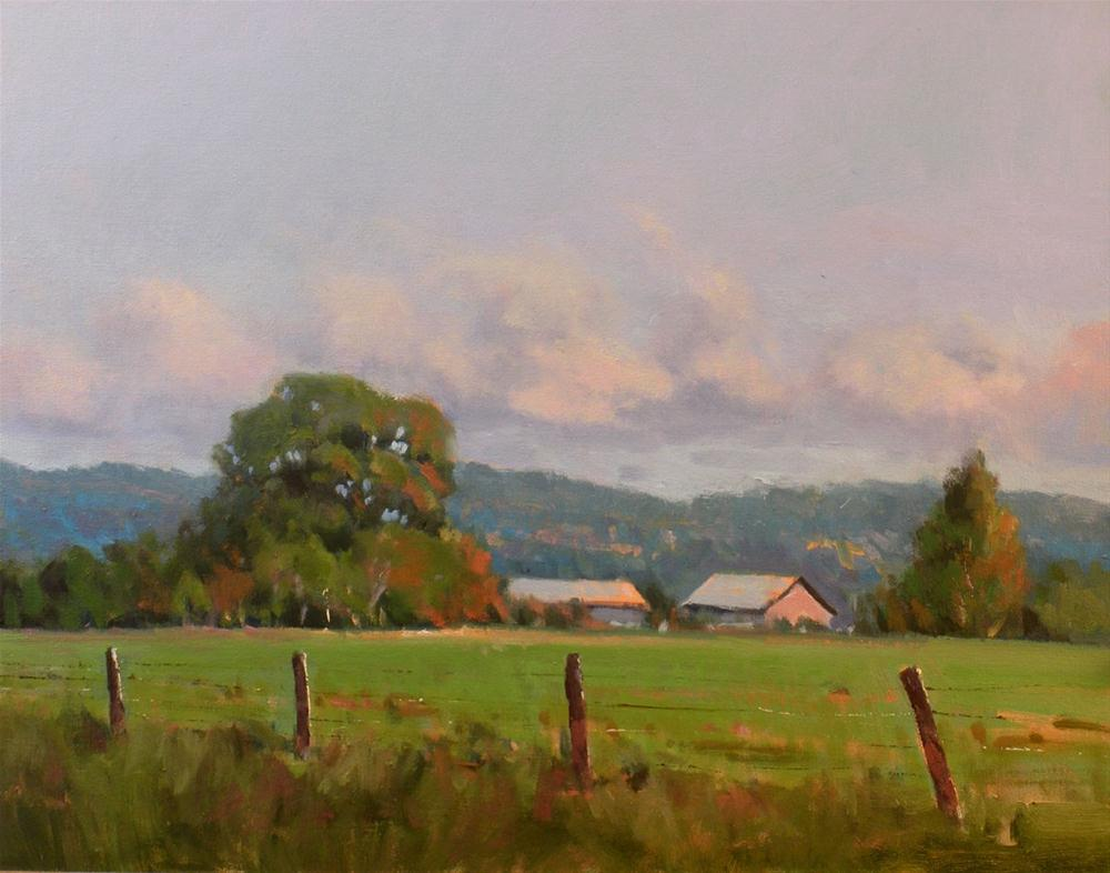 """Green Pasture"" original fine art by David Forks"