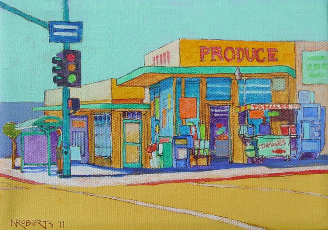 """Winona Avenue, San Diego"" original fine art by Nancy Roberts"
