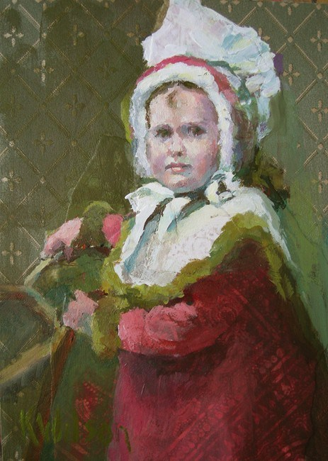 """Big Bonnet"" original fine art by Katie Wilson"