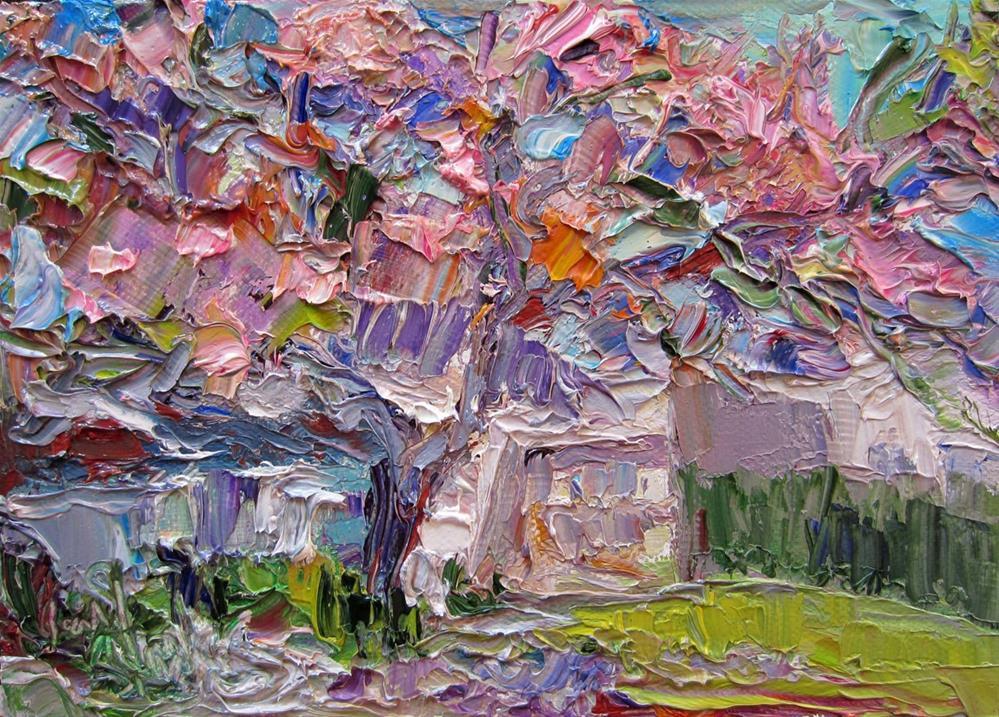 """Jacaranda"" original fine art by Carol Steinberg"