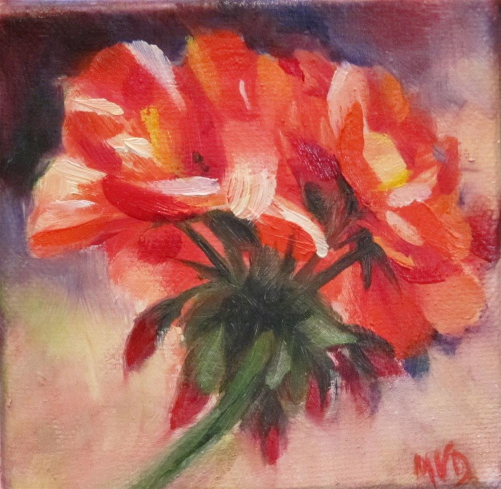 """Geranium"" original fine art by Mary Van Deman"