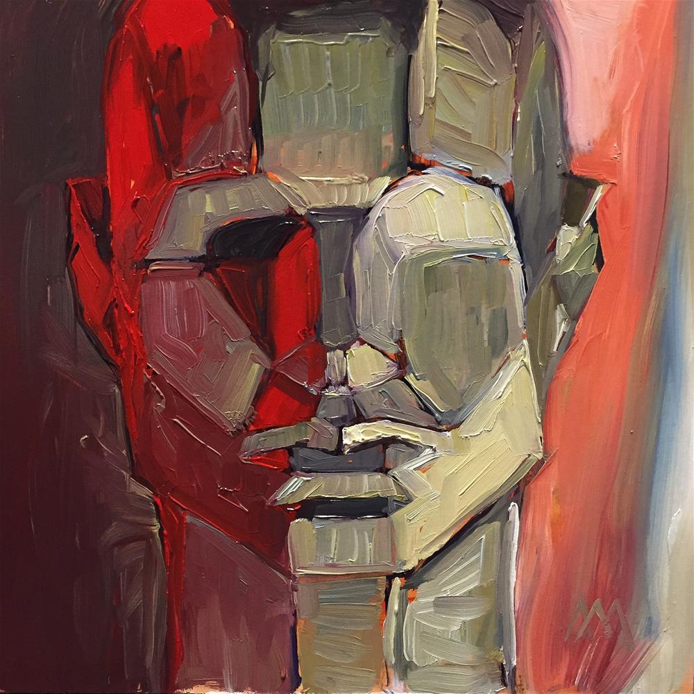 """Red Plane Head"" original fine art by Austin Maloney"