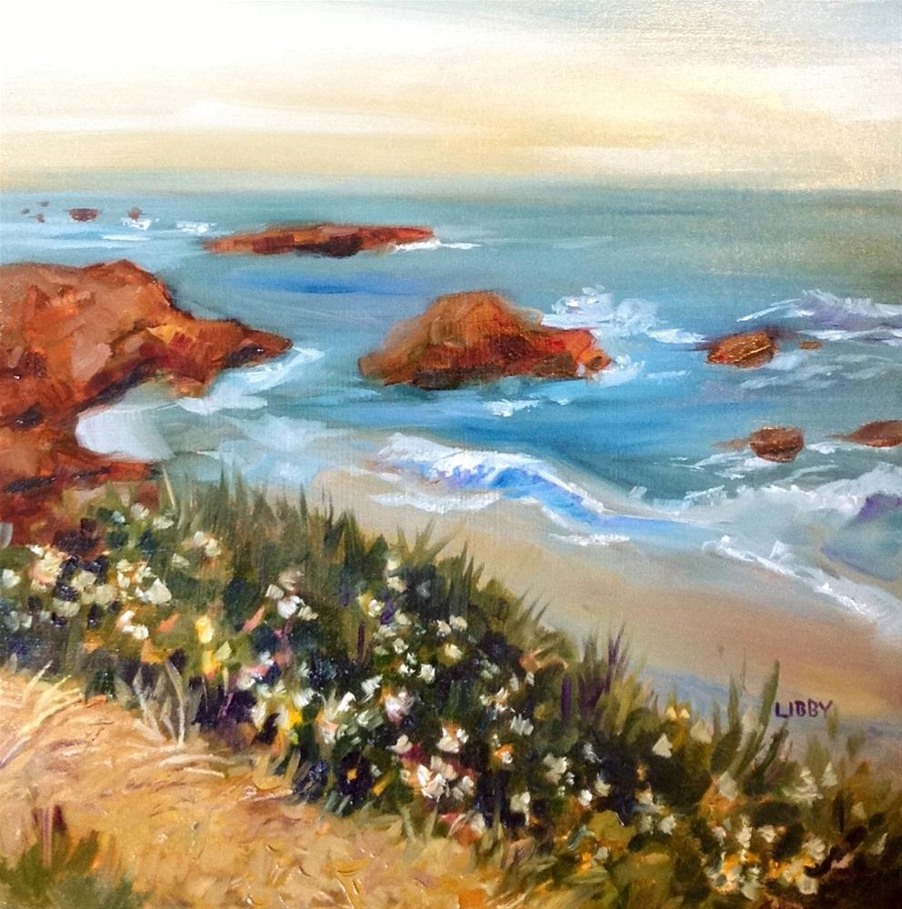 """Monterey Coast"" original fine art by Libby Anderson"