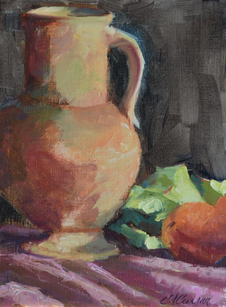"""Terracotta & Peaches"" original fine art by Cheryl A Curran"