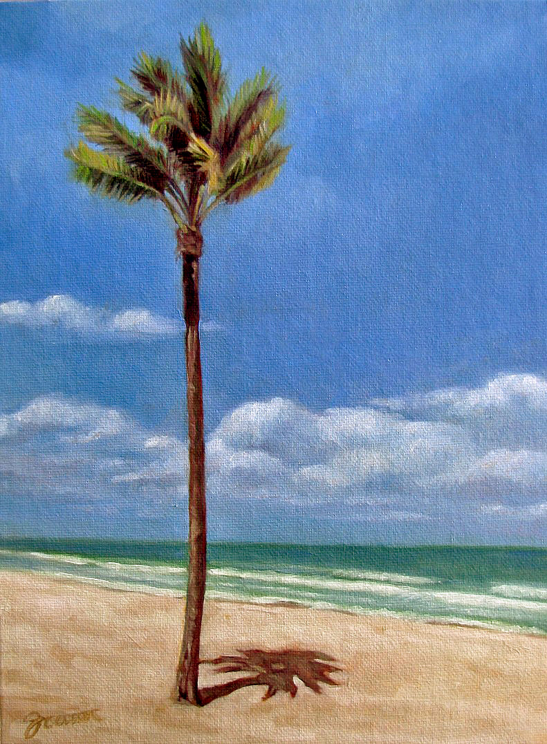 """Beach Palm"" original fine art by Joanna Bingham"