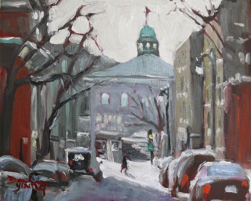 """780 Montreal Winter Scene, McGill"" original fine art by Darlene Young"
