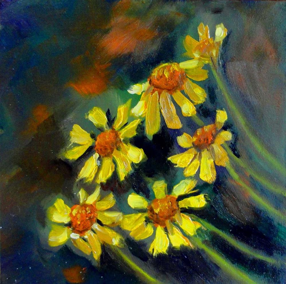 """Cheerful Flowers"" original fine art by Cietha Wilson"
