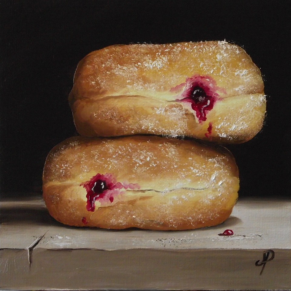 """Jam Doughnuts #6"" original fine art by Jane Palmer"