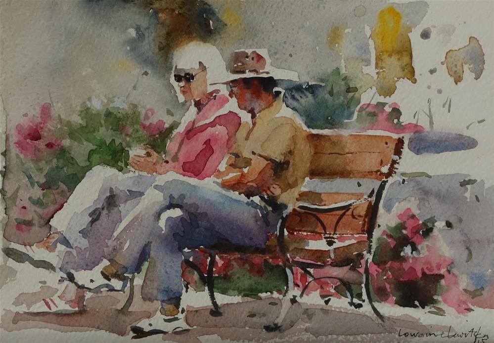 """Hot Coffee"" original fine art by Lorraine Lewitzka"