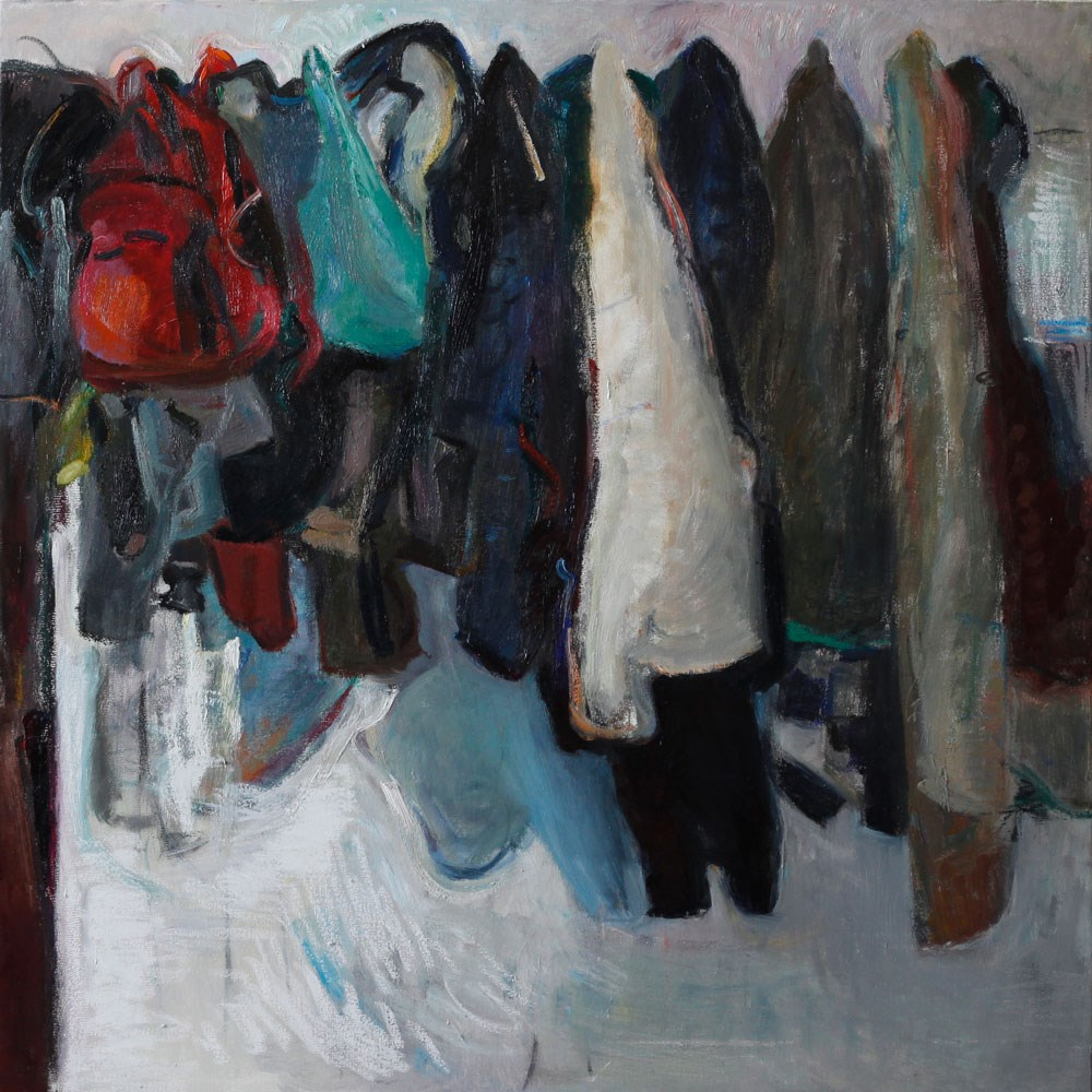 """Hanged Coats¨"" original fine art by Anna  Fine Art"