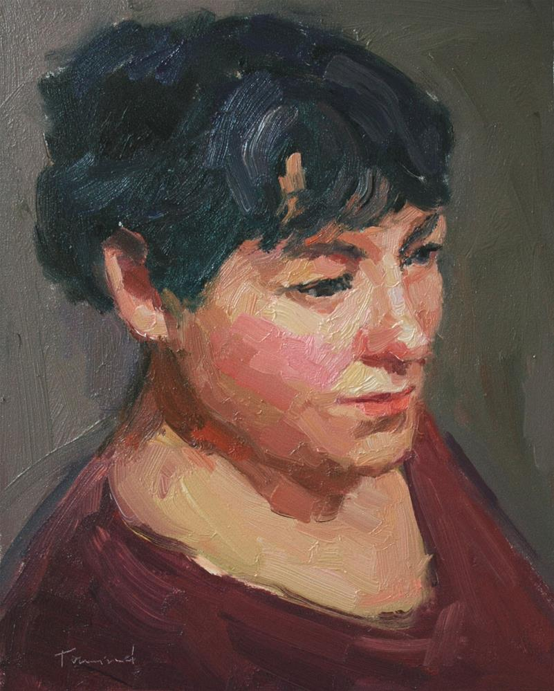 """Portrait Study #16"" original fine art by Kathryn Townsend"