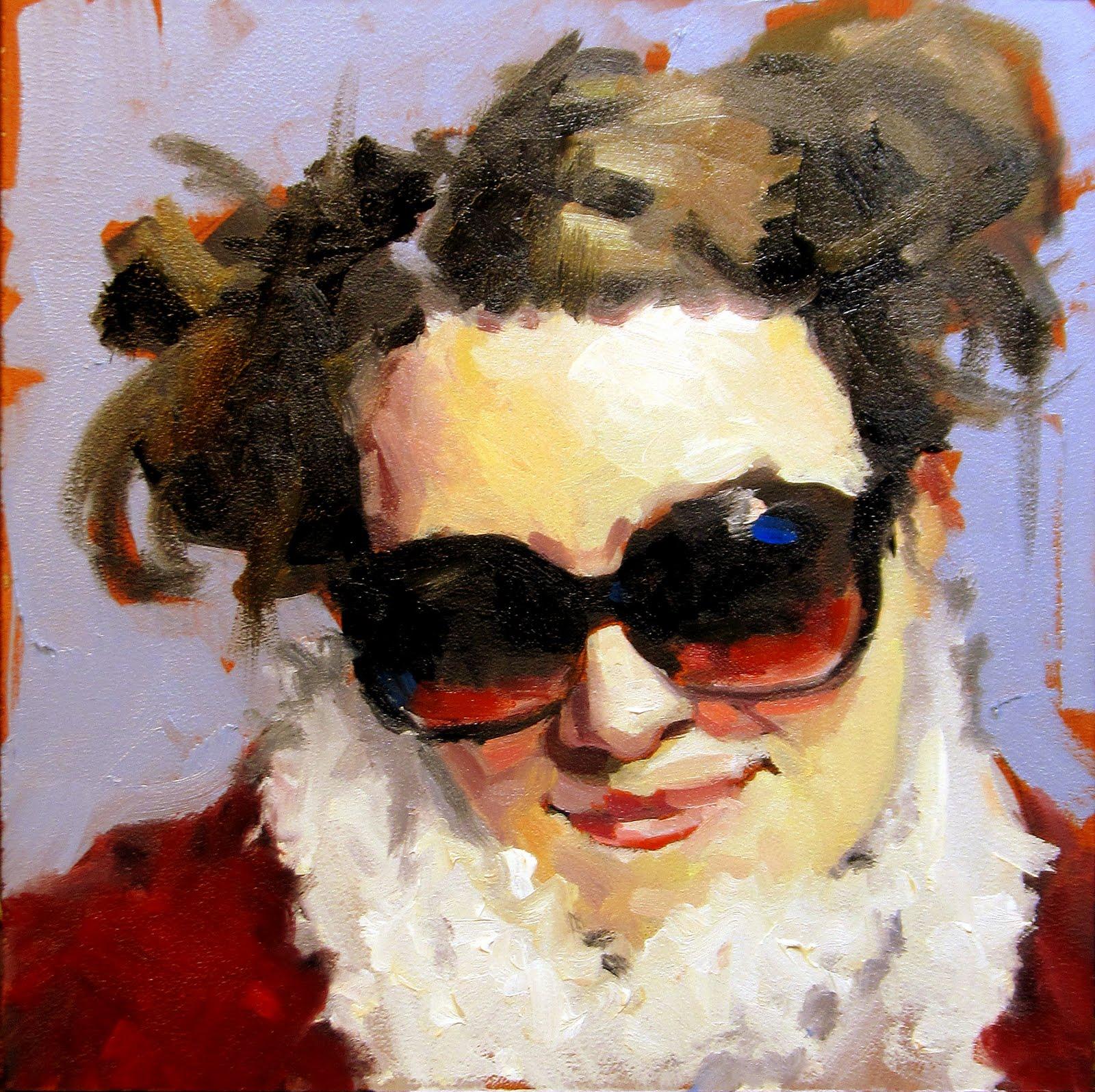 """ART 4 DIAPERS (DAILY DIAPER #165) Sunglasses and Scarf"" original fine art by Brian Burt"