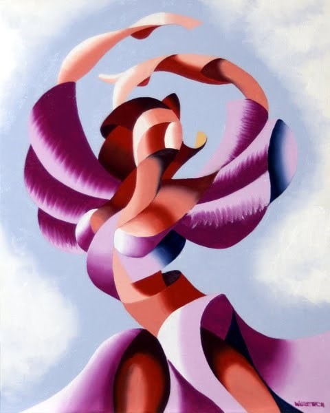 """Mark Webster - Plexus 2 - Abstract Figurative Gesture Oil Painting"" original fine art by Mark Webster"