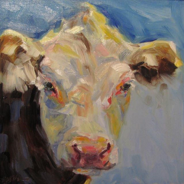 """Moo Review"" original fine art by Mb Warner"