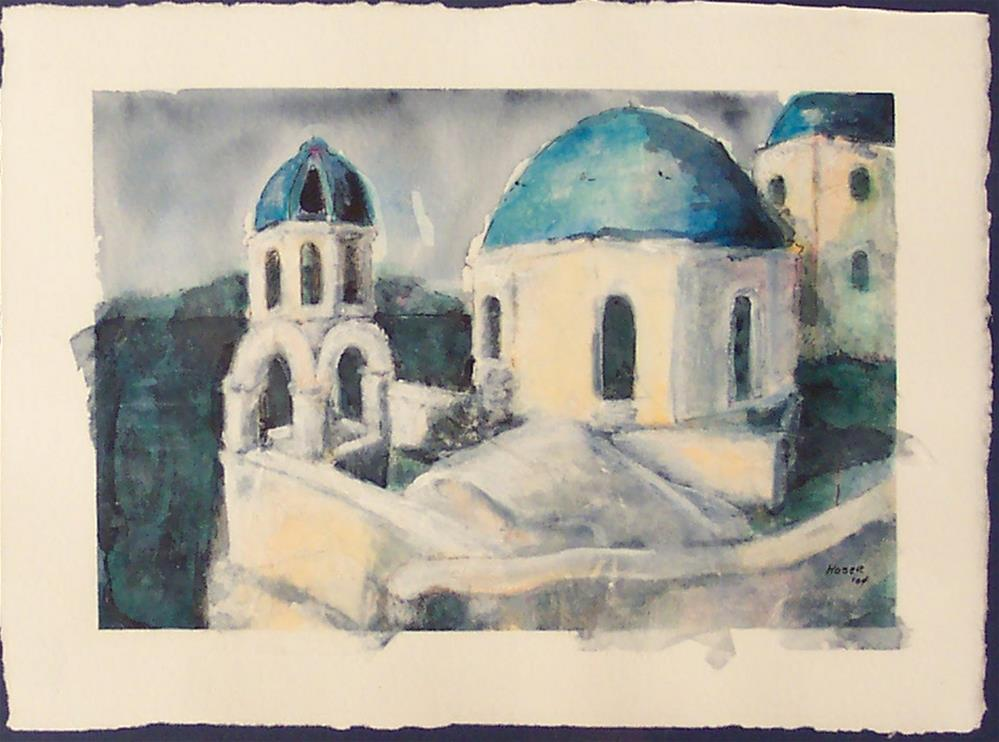 """SANTORINI"" original fine art by Mary Ellen Koser"