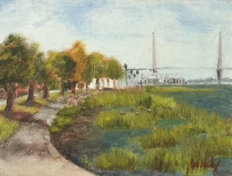 """""""Charleston Harbour"""" original fine art by Stephanie Drawdy"""