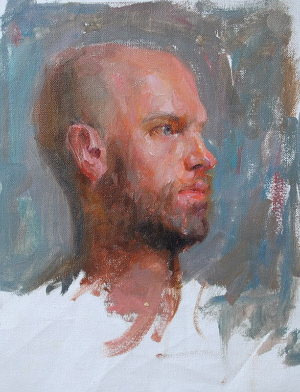 """portrait study"" original fine art by Taisia Kuklina"
