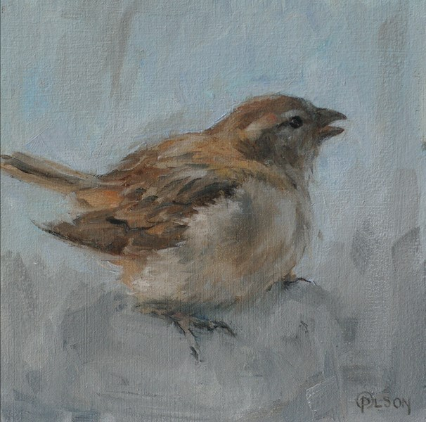 """Little Brown Thing-1"" original fine art by Priscilla Olson"