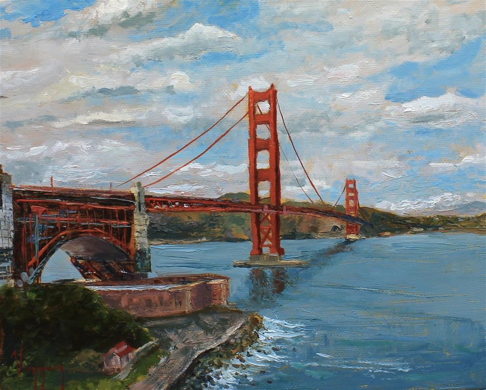 """Golden gate vista"" original fine art by Marco Vazquez"