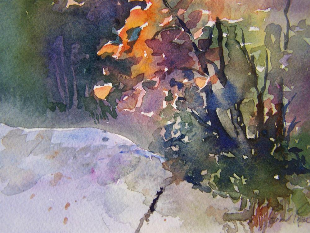 """Fall Bush"" original fine art by Joan Reive"