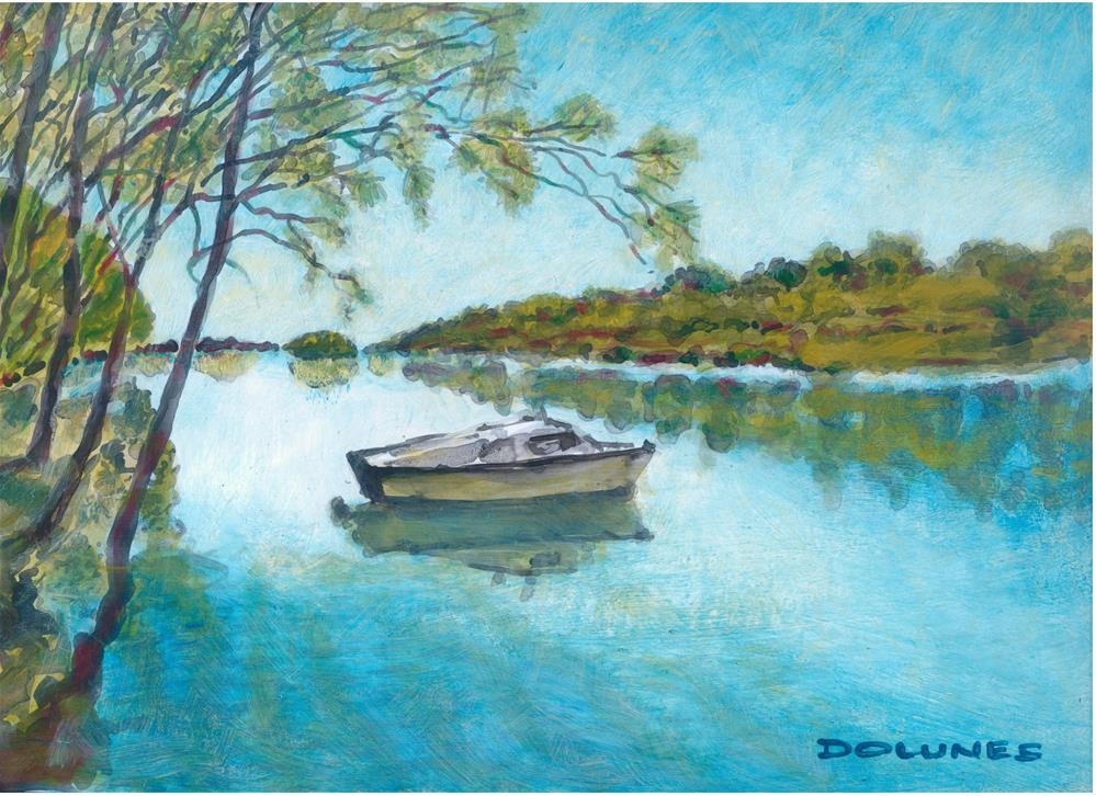 """042 SALT WATER CREEK 1"" original fine art by Trevor Downes"