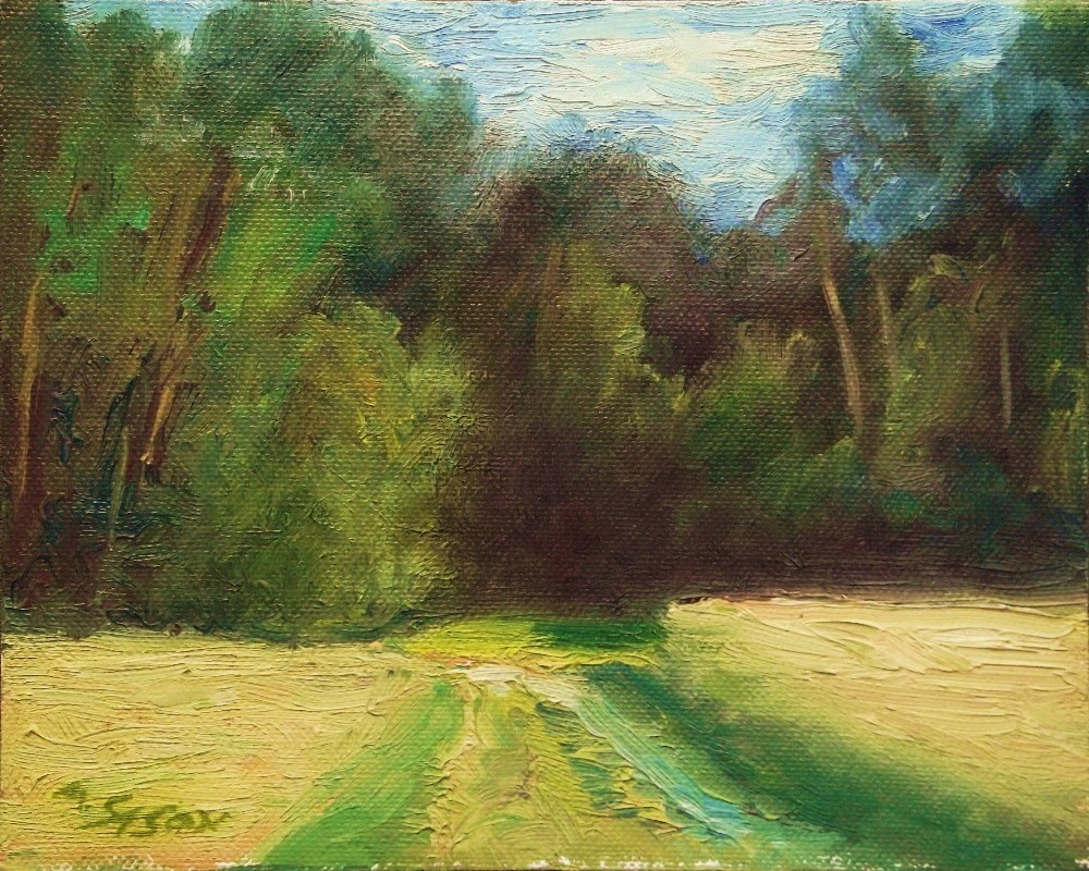 """Across the fields"" original fine art by Michael Sason"