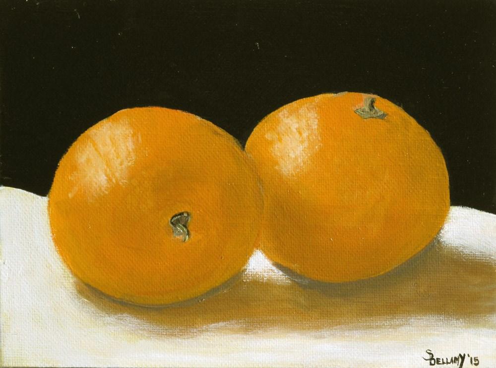 """Glowing Oranges"" original fine art by Sherry Bellamy"