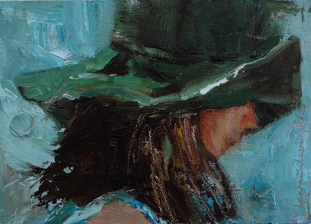 """""""Garden Hat"""" original fine art by Lorraine Lewitzka"""