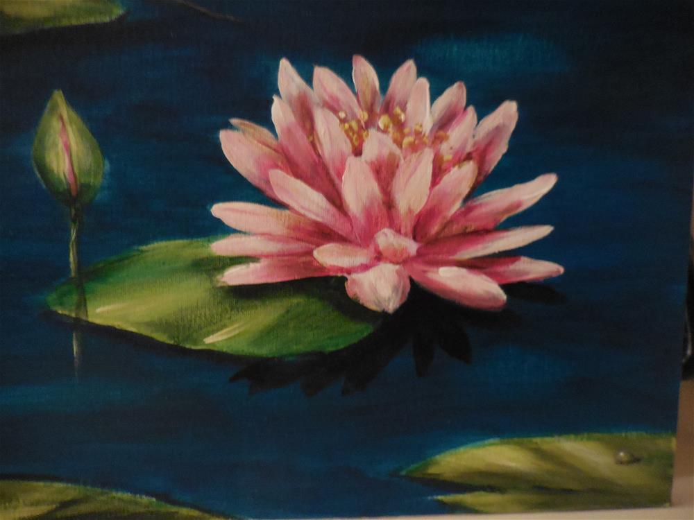 """Pink Lily"" original fine art by Terri Nicholson"