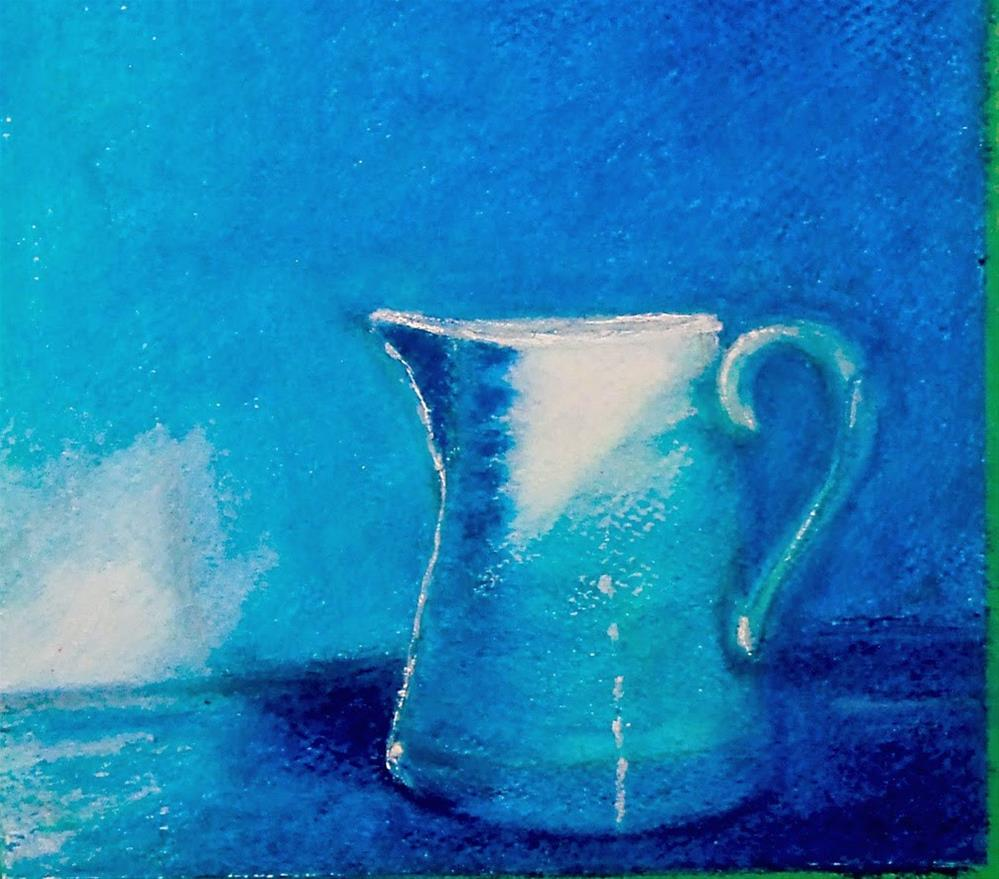 """Oil Pastel-Value study"" original fine art by Mitsuru Cope"