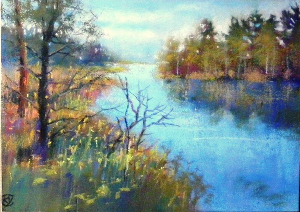 """Mill creek park"" original fine art by Celine K.  Yong"