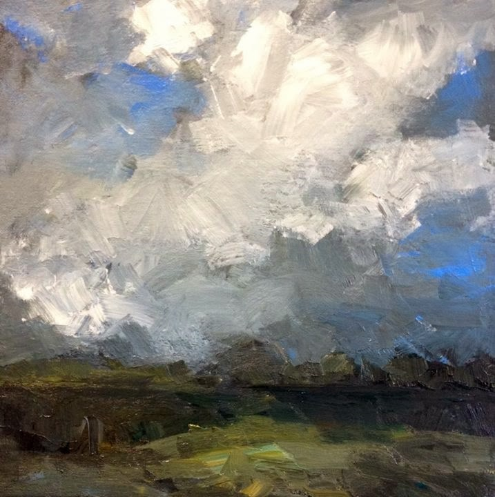 """sky with clouds"" original fine art by Parastoo Ganjei"