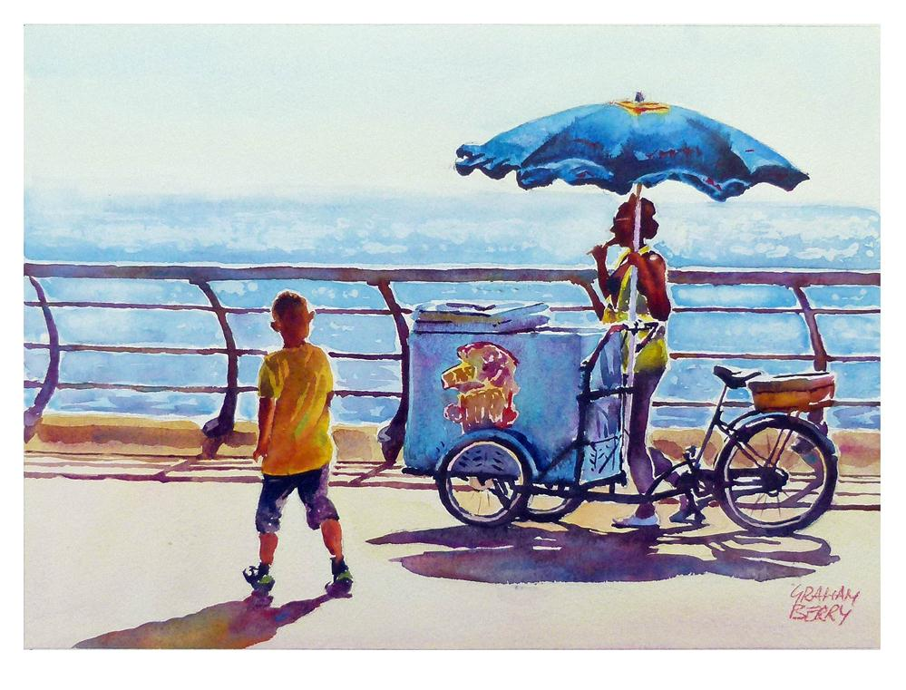 """Ice cream girl"" original fine art by Graham Berry"