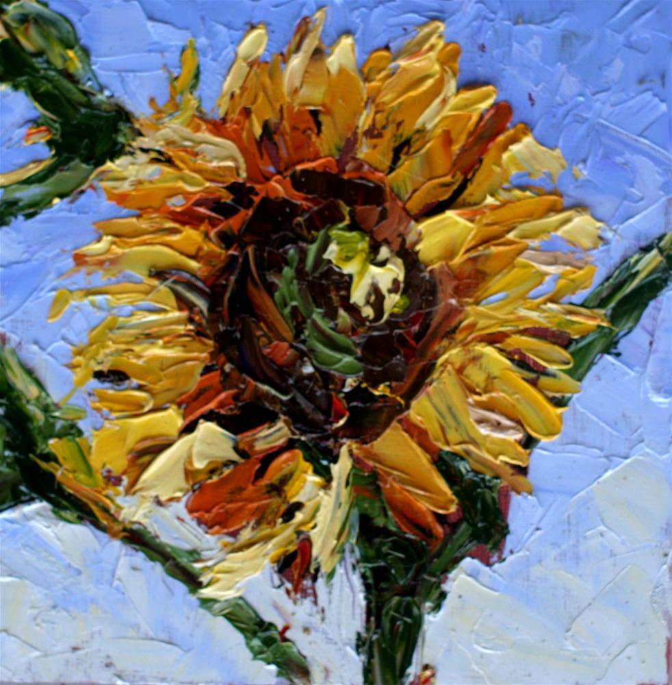 """""""Sunflower"""" original fine art by Kristen Dukat"""