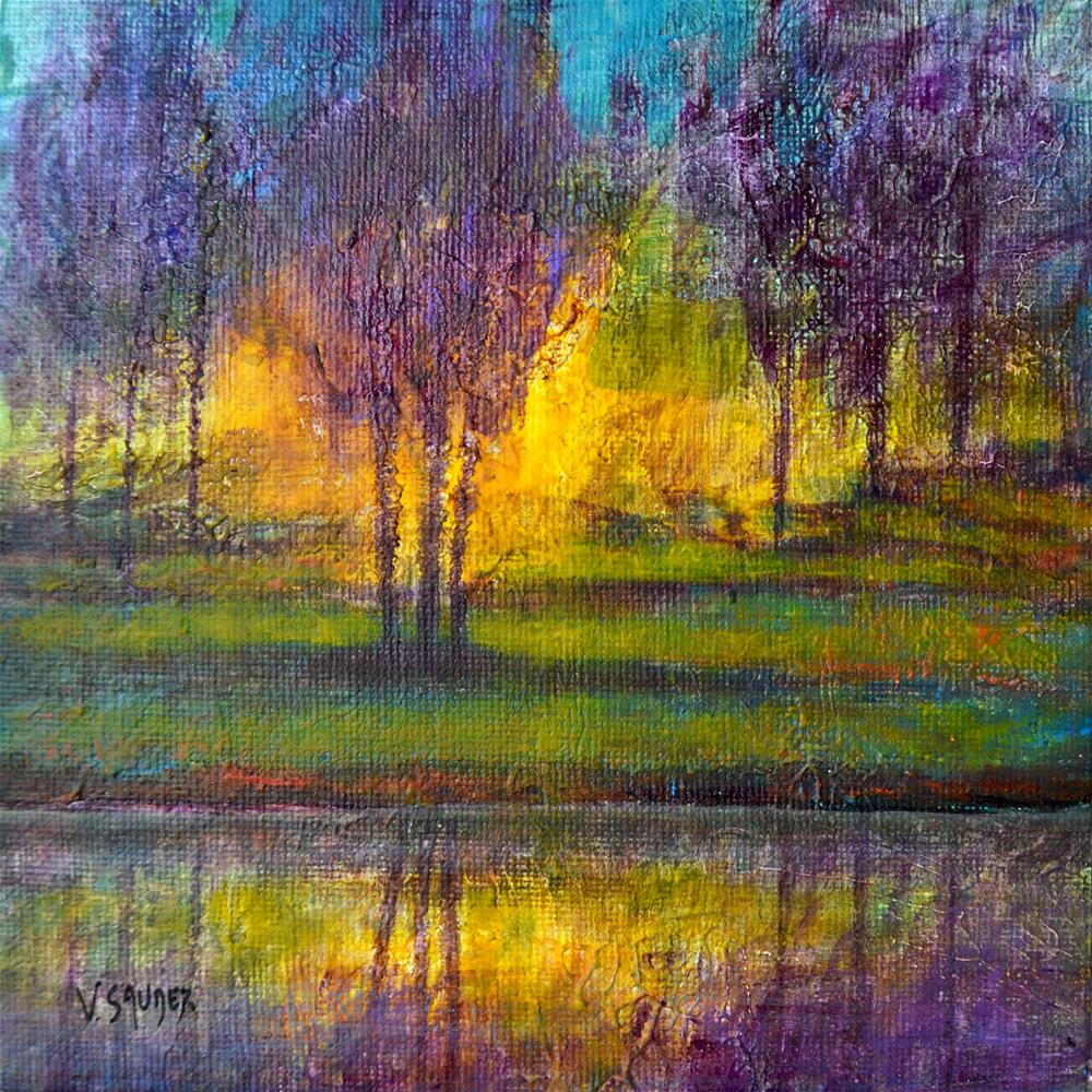 """""""In the light"""" original fine art by Véronique Saudez"""